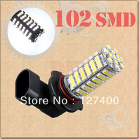 DHL free shipping 100pcs 9005 HB3 102 SMD Pure White Fog Running Driving Car 102 LED Head Light Bulb Lamp