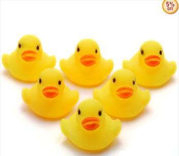60PC Wholesale Bulk Lots Cute Rubber Ducks baby kids Children bath Toy 4x4x4.5CM