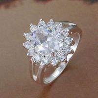 R145 Size:7,8 Wholesale 925 silver ring, 925 silver fashion jewelry, Inlaid Dan Taiyang Ring /bfxajxeaso
