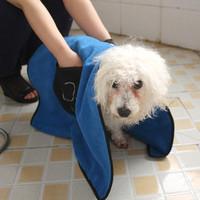 Pet Drying Towel Ultra-absorbent Dog Bath Towel Microfiber 86*49cm Soft Material Microfiber Paw Print  Bath Towel