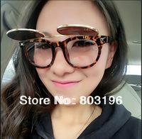 5PCS/Lot  Retro Vintage Men Women Sunglasses Fashion Round-Framed Sunglasses Double Clamshell Sunglasses Free Shipping