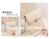 Color block day clutch female 2013 mini cross-body bags women's handbag fashion bag punk rivets shoulder bag