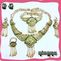 QYJS044 Wedding Jewelry Sets African Jewelry Sets Large emerald Jewelry Sets dubai fashion jewelry