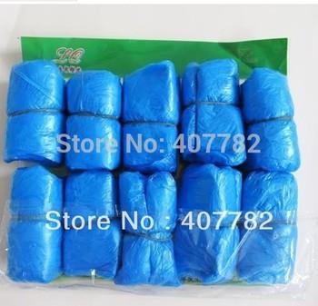 100pcs Elastic Disposable Plastic Protective Shoe Covers Carpet tools dropship