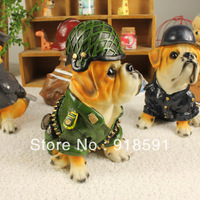 Free shipping (4 pieces/lot) Domineering resin ornaments creative home accessories furnishings clapboard simulation model dog