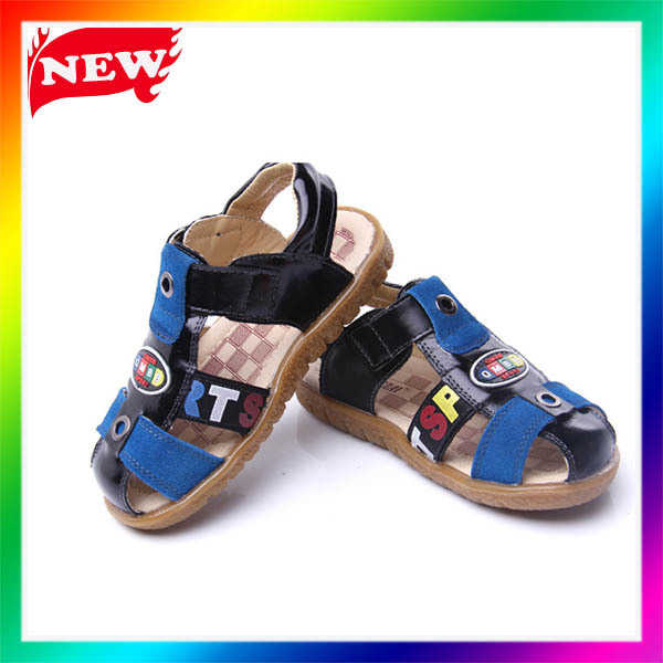 Wholesale cute kids baby shoes leather sandals casual shoes toddler boy shoes for 2013 summer(China (Mainland))