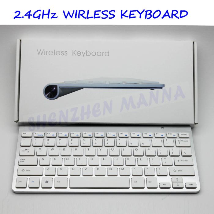 1pc kostenloser versand 2,4-ghz-mini usb wireless tastatur weiß für notebook #js030