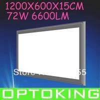 2PCS  72W led panel light ,6600Lm , 1200x600x15mm,side-face lighting  AC 85~265VAC, free shipping
