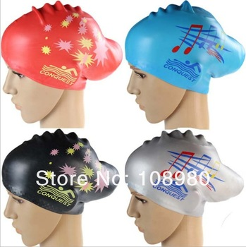 New Style Silica Swimming Cap Women's Specialize Protect Hair Lovely Cap