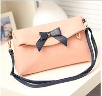 2014 women's handbag fashion Women bow cross-body candy color ladies small bags,free shipping