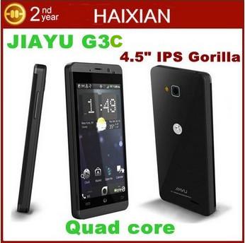 "Original Jiayu G3S g3C Quad core Smartphone 4.5"" IPS gorilla glass 1280*720Px screen 1GB RAM 4GB ROM 3G Android 4.2 phone"