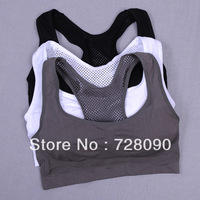 FREE  sports bra  sports underwear Mesh breathable elastic vest design  yoga bra running All code