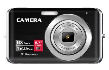 "5 mega pixels camera digital with 2.7"" display 8x optical zoom lithium battery DC-K712C"