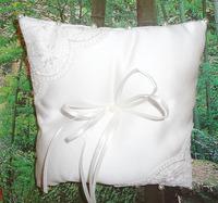 1pc hot selling Handmade ring pillow lace  Satin Wedding Ring Pillow free shipping