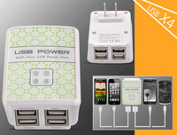 multi-port usb charger for ipad iPhone 5 4S Samsung i9500 iphone ipad galaxy note p1000 tablet pc