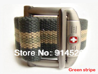 110-140cm lenght 2013New Fashion Canvas Swiss military S Shape Metal Mens strap belt for men P61902 free shipping