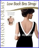 Free shipping LOW BACK BRA STRAP ADJUSTER - CONVERT YOUR BRA!! white beige black 3pcs/box