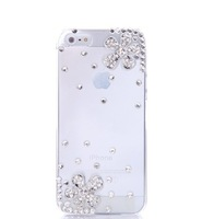 White case  for iphone for 4 4 s phone mobile phone case pasted shell rhinestone 4s phone case