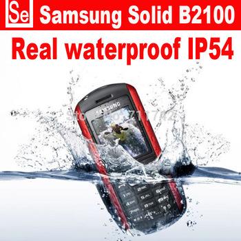 Refurbished unlocked Samsung B2100 waterproof IP54  B2100 Xplorer cell phones unlocked russian language only english keyboard
