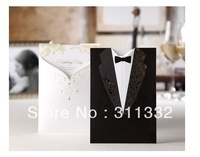 Classic Formal dress style Elegant creative wedding Invitations Cards SPC2011 Printable and Customizable Free shipping