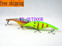 free shipping 2pcs/lots SMUTTLY DOG MUSKY MUSKIE PIKE BASS JERKBAIT Fishing lure bait 180mm 2.2oz 3D Eyes D0018
