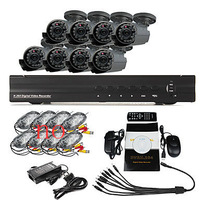 8 Channel DVR Home Security Surveillance Camera System With 8 Warterproof Outdoor IR CCTV