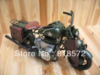 Handmade Metal Motorcycle Model  - Vintage car model,Home decoration ,Crafts,Gifts,Collages