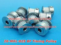 Alumium 20 teeth MXL Timing pulley Bore 5mm DIY Ultimaker clone FREE Shippping 50pcs/pack
