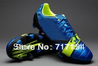 Free Shipping New Blue White Electricity NC Series Men's Outdoor Soccer Shoes Foot Ball Cleats Firm Ground Hotsale Dropship