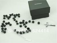 Mens New hot style Beckham Rosary Beads Crucifix Necklace Latin Cross Crucifixo