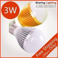[Huizhuo Lighting]3W / 5w / 7w / 9w /12w / 15w golden/silver e27 led bulb light led e27 lamop with free shipping