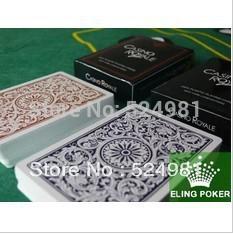 Free shipping! Super Price 2 Decks ROYAL 100% Plastic Playing Cards(55pics each) JUMBO(China (Mainland))