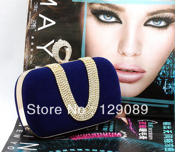 free shipping new arrival clutch Rose bridal bag women's handbag evening bag 2013 day clutch bag bridesmaid bag diamond 12056