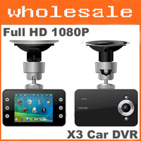 Free Shipping Full HD 1080P X3 Car DVR 2.7LTPSCamera Blackbox support Low Illumination Night Vision + G-Sensor + HDMI Wholesale