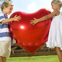 36 inch colorful heart shiny foil mylar helium Balloons for Birthday Wedding Party Decoration 6 color option CN post