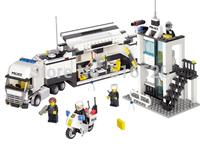 Police Truck Police Station Building Block Sets Model Educational DIY Bricks Toys For Children Kazi 6726 6727