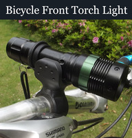 CREE LED Q5 450LM Zoomable Waterproof Flashlight / Bicycle Front Light Headlight Light + Torch Holder  Wholesale 1 pcs