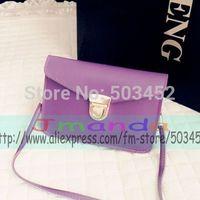 100pcs/lot Competitive Price Fashion Ladies Handbag Candy Colors Women Small Handbag Pu Leather Soft Feeling Handbag Popular