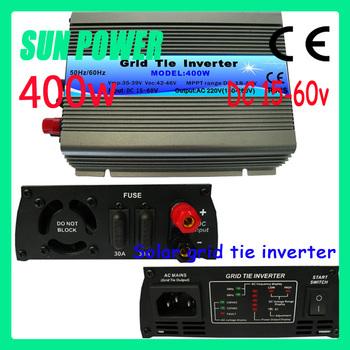 Free shipping ,400W Pure Sine Micro Grid Tie solar inverter DC15V~60V, AC 90V-140V/180V~260V, 50Hz or 60Hz