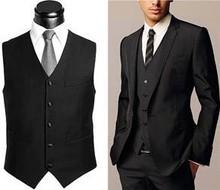 Free Shipping Men's business Wool Suit Vest Men autumn vest coat outerwear Male college  jacket jaqueta clothes,plus size xxxxl(China (Mainland))