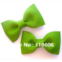 200pcs Wholesale Small Apple Green Dog Hair Bows Christmas Free shiping