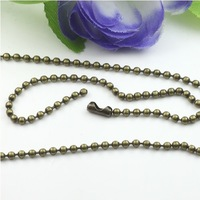 2.4mm ball chain Antique Bronze Jewelry ball chain,Alloy/Metal Chain length:65cm 100pcs/lot Free shipping~!
