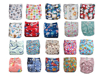 2015 Promotional 10sets (diaper+bamboo 5ayer insert ) /lot choose desigen