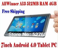 Gooweel Q88 pro A23 Dual core tablet pc android 4.2.2 1.5GHz RAM DDR3 512MB ROM 4GB Dual Camera