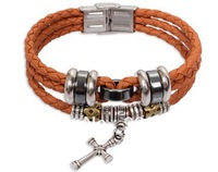 Male leather bracelet male multi-layer fashion personality punk vintage accessories men's bracelet female