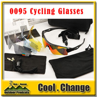 New Arrival 0095 TR90 Frame Cycling Bicycle Bike Outdoor Sports Sun Glasses Eyewear 5 color lens Fast Shipping