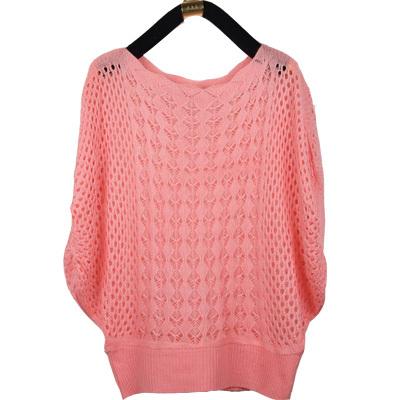 2014 new fashion women thin cardigan sweater hollow bat sleeve Casual sun shirt air-conditioned shirt blouse shawl female ks001(China (Mainland))