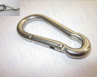 Free Shipping Wholesales M5X50MM small stainless steel carabiner spring DIN5299C snap hooks