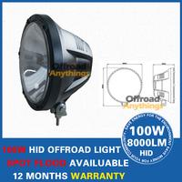2 Pcs 7'' 75W 12V/9~16V Offroad Drive Light 100w HID Slim Ballast Spotlight Free Cover Hid Work Light