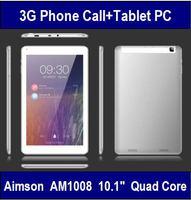 Aimson AM1008 10.1inch Tablet PC IPS 1280*800 MTK8382 Quad Core 1G RAM 16G ROM GSM 3G WCDMA Phone Call GPS WIFI 5MP Dual Cameras